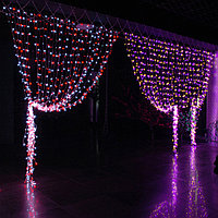 Гирлянды светодиодные, новогодние, уличные Водопад. 3*12 метров RGB, синий, белый, желтый и др. цвета, фото 7