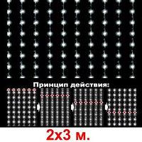 Гирлянды светодиодные, новогодние, уличные Водопад. 3*12 метров RGB, синий, белый, желтый и др. цвета, фото 8