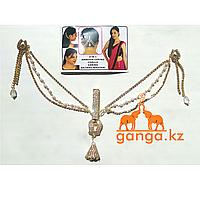 Серьги с цепочкою для волос, Золотистые (4в1)
