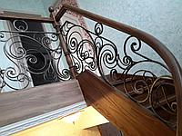 Ограждение на лестницу из металла