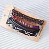 Кожаный многослойный браслет (фенечки), Holy