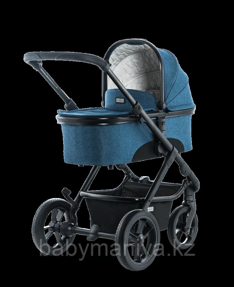 Коляска детская 2 в 1 Moon SCALA blue/panama