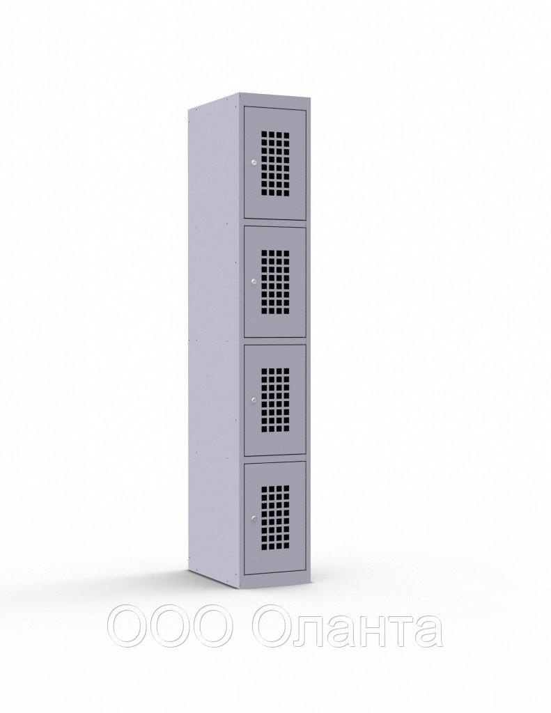 Шкаф металлический для сумок 4 ячейки (300х500х1850) арт. ШР14/300ПД