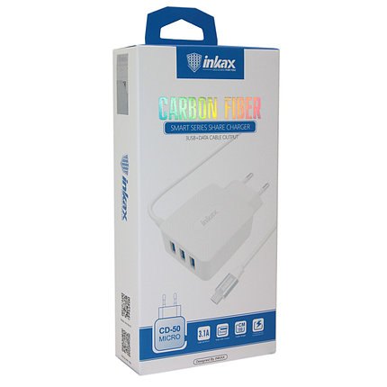 Зарядное устройство INKAX CD-50 Micro USB 3.1A, фото 2