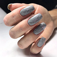 Гель-краска Паутинка серебро.