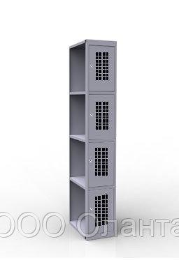 Дополнительная секция 4 ячейки к шкафу ШР14/300ПД (300х500х1850) арт. ШР14/300ДС/ПД