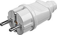 Вилка MAXElectro электрическая, 16А/220В, с заземлением, белая, STAYER, фото 1
