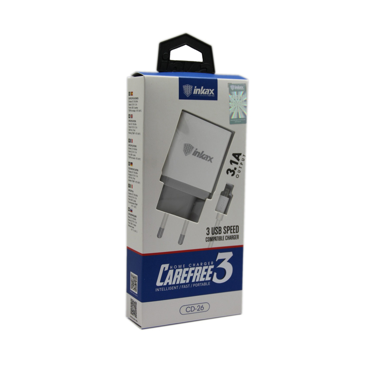 Зарядное устройство INKAX CD-26 Micro USB 3.1A