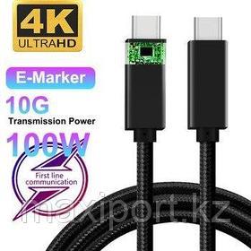 Type-c to Type-c кабель 100watt 10gbps скоростной Thunderbolt 3