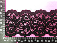 Кружево эластичное, черное, ширина-80 мм
