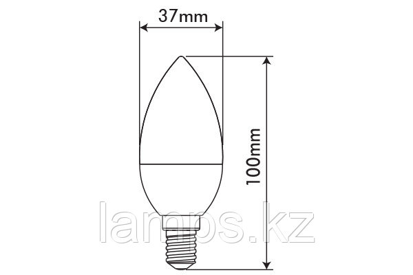 Светодиодная лампа OPTILED/C37/E14/3.5W/6400K/SMD/CBOX
