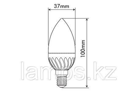 Светодиодная лампа MICROSTAR-2/6W/SMD/E14/2700K/SFT/C37/CBOX/LED, фото 2