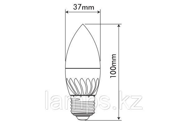 Светодиодная лампа MICROSTAR-2/6W/SMD/E27/2700K/SFT/C37/CBOX/LED, фото 2