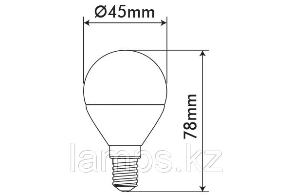 Светодиодная лампа ORBILED-2/6W/SMD/E14/4000K/G45/CBOX