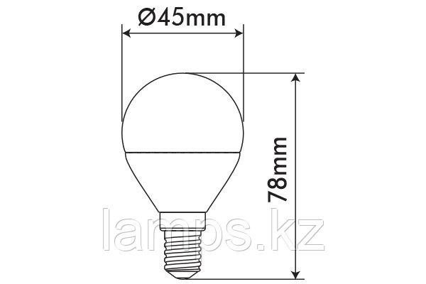 Светодиодная лампа ORBILED-2/6W/SMD/E14/6400K/G45/CBOX