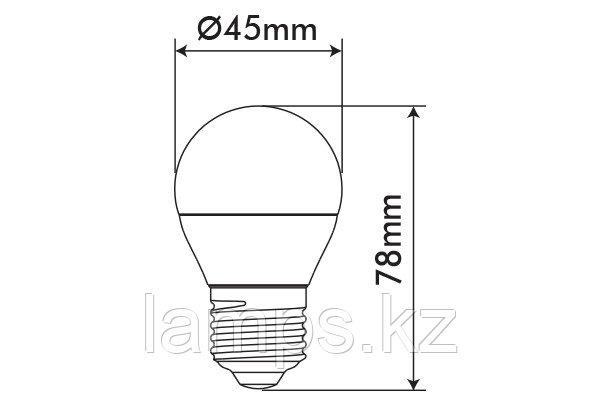 Светодиодная лампа ORBILED-2/6W/SMD/E27/4000K/G45/CBOX, фото 2