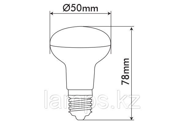 Светодиодная лампа REFLED-2/7.7W/SMD/E14/4000K/R50/SFT/CBOX, фото 2