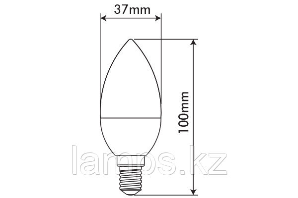 Светодиодная лампа BASIS/5.5W/SMD/E14/4000K/C37/CBOX