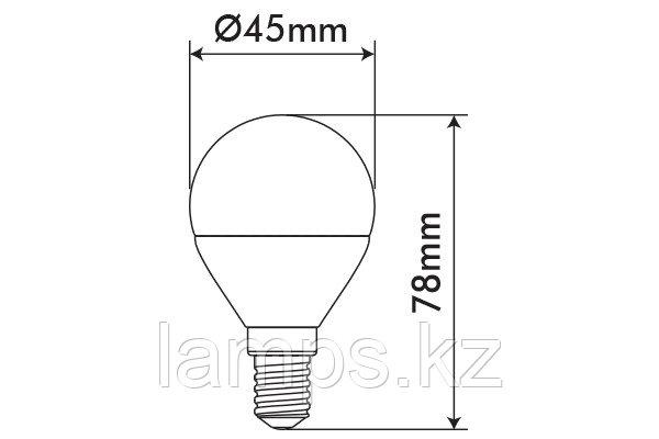 Светодиодная лампа BASIS/5.5W/SMD/E14/2700K/G45/CBOX, фото 2