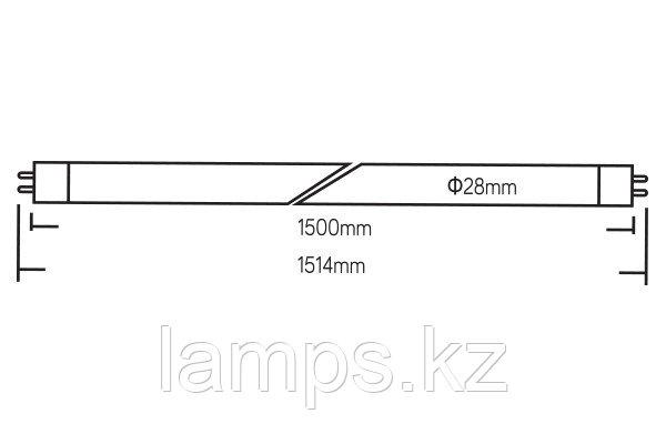 Светодиодная лампа трубка OPTILED/24W/G13/6500K/1500MM/T8 LED TUBE