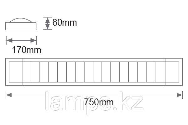 Светильник флуоресцентный LINE/2x18W/Белый/T8/Настенный, фото 2