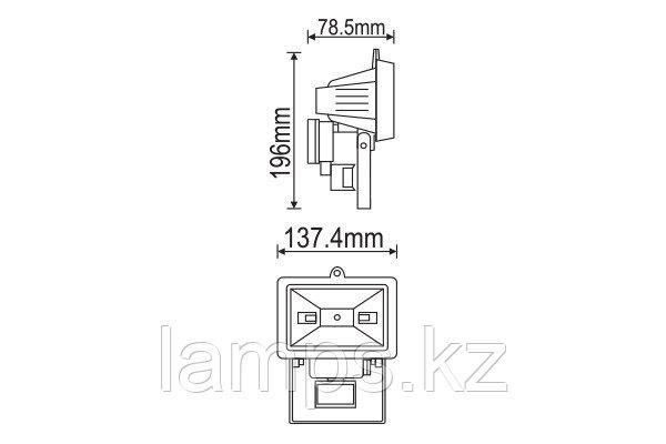Прожектор NODE-78S/R7S/Белый/IP44/78MM/SENSOR-GRILL