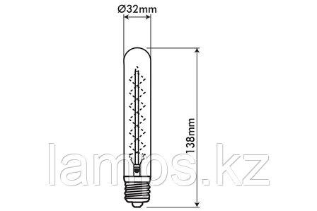 Декоративная лампа Эдисона VITOONE/DECOART/T28/40W/E27/CARBON FILAMENT, фото 2