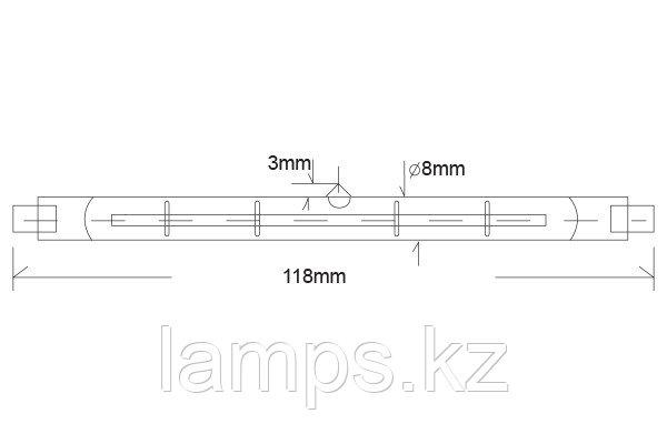 Лампа галогенная линейная Econur 118 мм/500W/R7S/220V, фото 2
