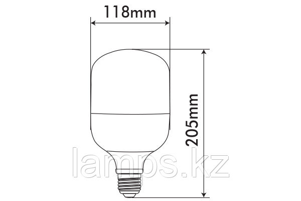 Светодиодная лампа VITOONE/NEBULA/44W/SMD/E27/6400K/CBOX, фото 2