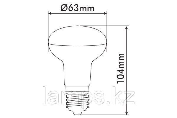 Светодиодная лампа VO/REFLED-2/9W/SMD/E27/6400K/R63/SFT