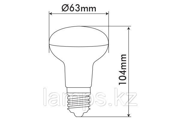 Светодиодная лампа VO/REFLED-2/9W/SMD/E27/6400K/R63/SFT, фото 2