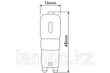 Светодиодная лампа VO/CAPSULED-2/G9/3W/SMD/2700K/220V/DIMM, фото 2
