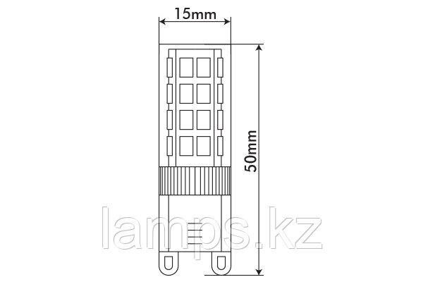 Светодиодная лампа VO/CAPSULED-2/G9/4W/SMD/6400K/220V/CBOX, фото 2