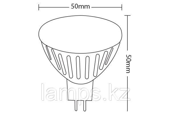 Светодиодная лампа SPOTLED-2/12VDC/6W/SMD/GU5.3/MR16/64K/9LNS/CBOX, фото 2