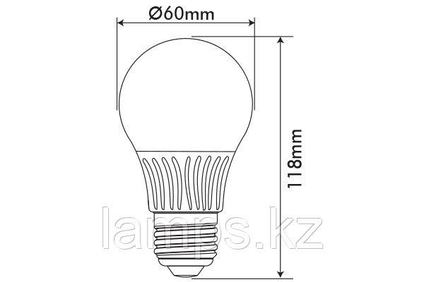 Светодиодная лампа GLOBUS-2/11W/SMD/E27/6400K/A60/DIM/CBOX, фото 2