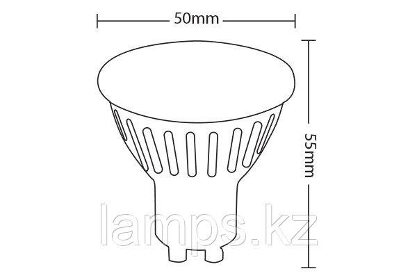Светодиодная лампа VO/SPOTLED-2/6W/SMD/GU10/2700K/1LENS/DIM