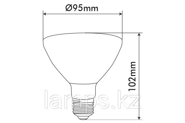 Светодиодная лампа  VO/PARLED/13.2W/SMD/E27/3000K/PAR30/CBOX, фото 2