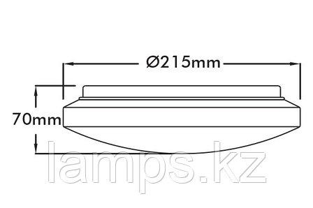 Настенно-потолочный светодиодный светильник MOON-19/10W/SMD/65K/19CM/WHT/220V, фото 2