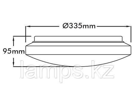 Настенно-потолочный светодиодный светильник MOON-30/18W/SMD/65K/30CM/WHT/220V, фото 2