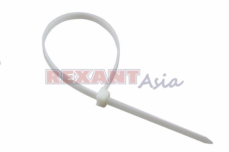 Хомут-стяжка нейлоновая многоразовая REXANT 300x7,5 мм, белая, упаковка 100 шт., (07-0309 )