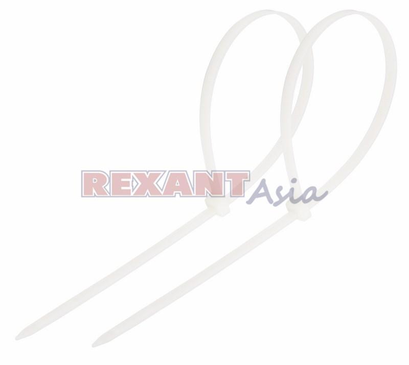 Хомут-стяжка кабельная нейлоновая REXANT 350 x4,8 мм, белая, упаковка 100 шт., (07-0350 )