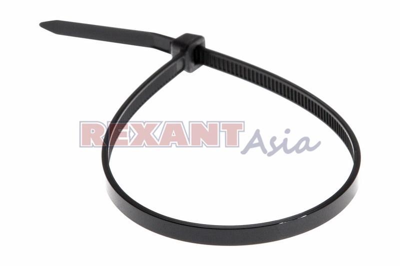 Хомут-стяжка кабельная нейлоновая REXANT 300 x3,6 мм, черная, упаковка 100 шт., (07-0301 )