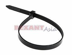 Хомут-стяжка кабельная нейлоновая REXANT 200 x7,6 мм, черная, упаковка 100 шт., (07-0203 )