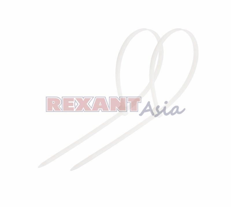 Хомут-стяжка кабельная нейлоновая REXANT 150 x3,6 мм, белая, упаковка 100 шт., (07-0150-4 )