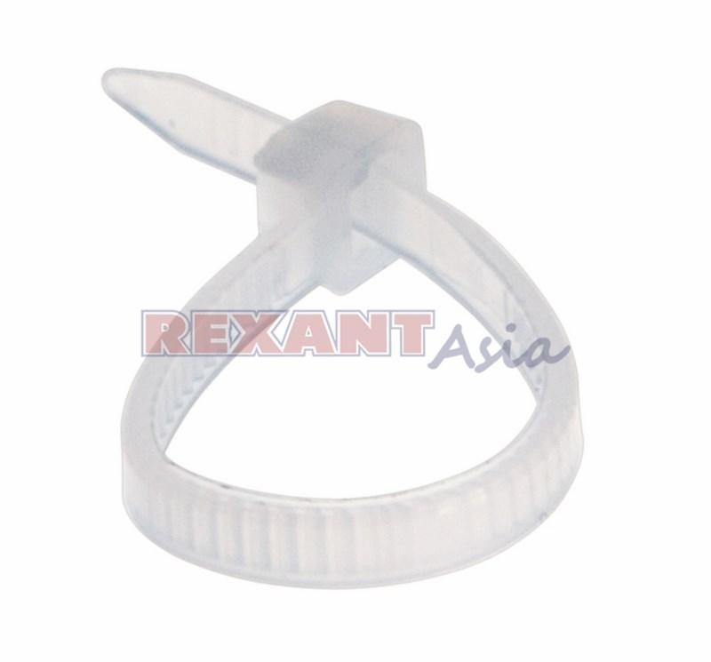 Хомут-стяжка кабельная нейлоновая REXANT 100 x2,5 мм, белая, упаковка 100 шт., (07-0100 )