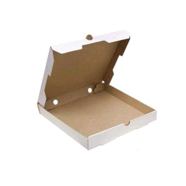 Коробка д/пиццы, 450х450х40мм, бел., картон. профиль B, 50 шт