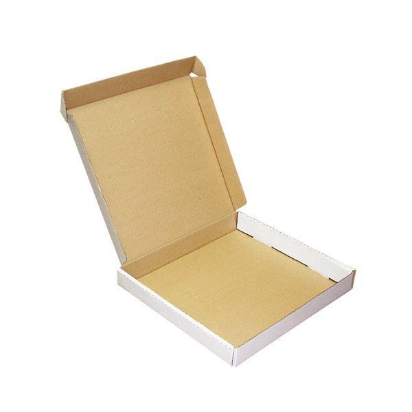 Коробка д/пиццы, 420х420х40мм, бел., микрогофрокартон, 2500 шт