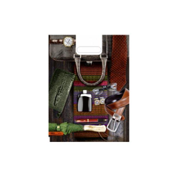 """Пакет (мешок) проруб. ПВД 40х30см, 60мкм, """"Мужской стиль"""", 25 шт"""