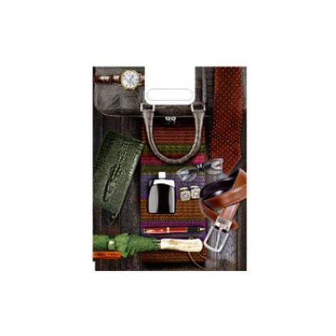 """Пакет (мешок) проруб. ПВД 40х30см, 60мкм, """"Мужской стиль"""", 25 шт, фото 2"""