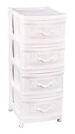 Комод универсальный плетенный 4-х секционный «Альтернатива» (Белый), фото 2